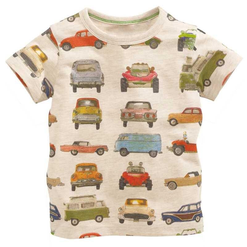 המותג הקמעונאי 1 חתיכה 2014 ילדים חדשים החולצה של הבנים Tees התינוק בגדים לילד הקטן קיץ חולצת טי מעצב כותנה קריקטורה