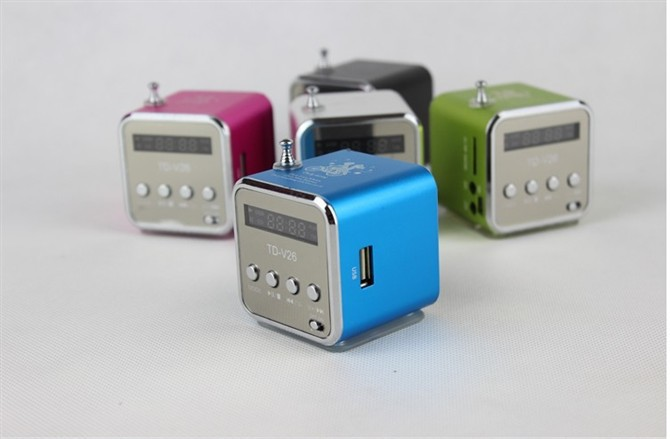 only love genuine new Micro SD/TF Card Digita linternet radio portable fm Radio Mini multi-function Aluminum Speaker radio(China (Mainland))