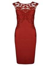 Hot Sexy New Style Women Summer Casual Sleeveless Embroidery Lace Dress O-Neck Pencil Knee-Length Styling Sexy Red Dresses