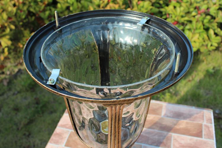 Купить Водонепроницаемый сад столп света место алюминиевый 220 В / 110 В бронзовый европа колонны открытый сообщение теплый белый / холодный белый