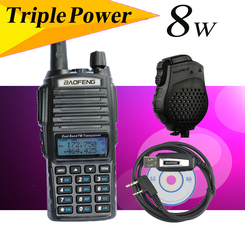 Baofeng UV-82HX 8w walkie talkie sister baofeng uv-5r gt-3tp zastone tyt wouxun kg-uv9d+accessories ptt headset+Cable+speaker(China (Mainland))