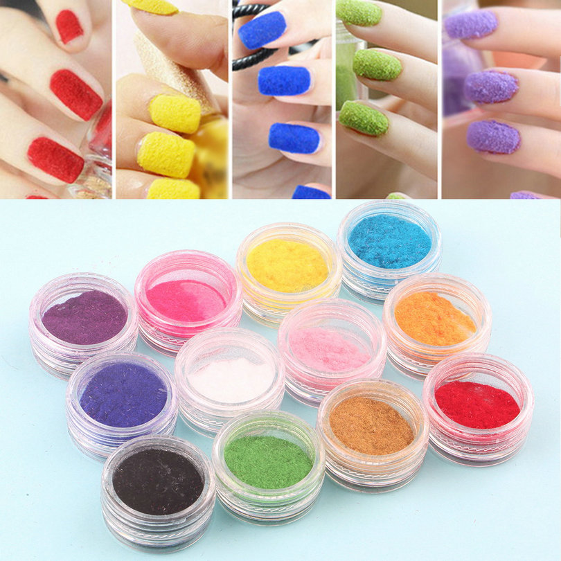 Hot! 12 Mix Colors Acrylic Powder Nail Art Dust Powder Decoration for Nail Powder High Quality(China (Mainland))