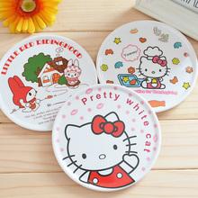 Lovely Cartoon Hello Kitty Round Dish Plate Cup Cushion Coaster Mat Holder Placemat Glass Mug Pad Home Decor(China (Mainland))