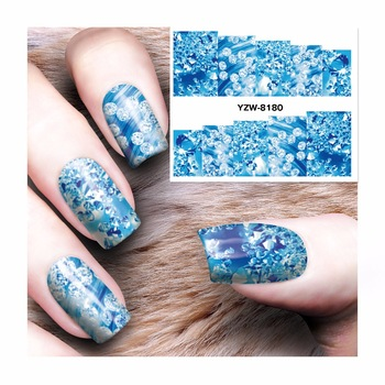 WUF 1 Sheet Water Transfer DIY 3D Design Nails Nail Art Stickers Decals Tools 8180
