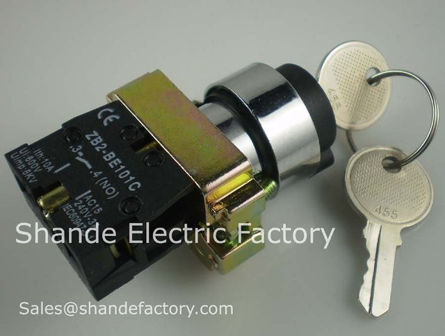 2 Position 1 NO Normally Open 1 N/O Locked Maintained Key Switch
