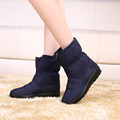 2016 Winter snow boots women s ankle boot flat slip resistant thermal winter mother shoes women