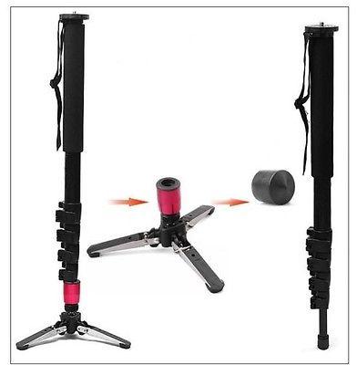 new design Pro Alumninum Alloy Camera DSLR Unipod Monopod Flip Lock with 3 Legs Base Tripod for canon nikon sony DSLR camera<br><br>Aliexpress