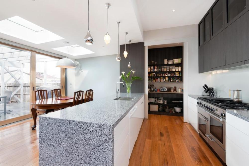 encimera de granito gabinetes de cocina