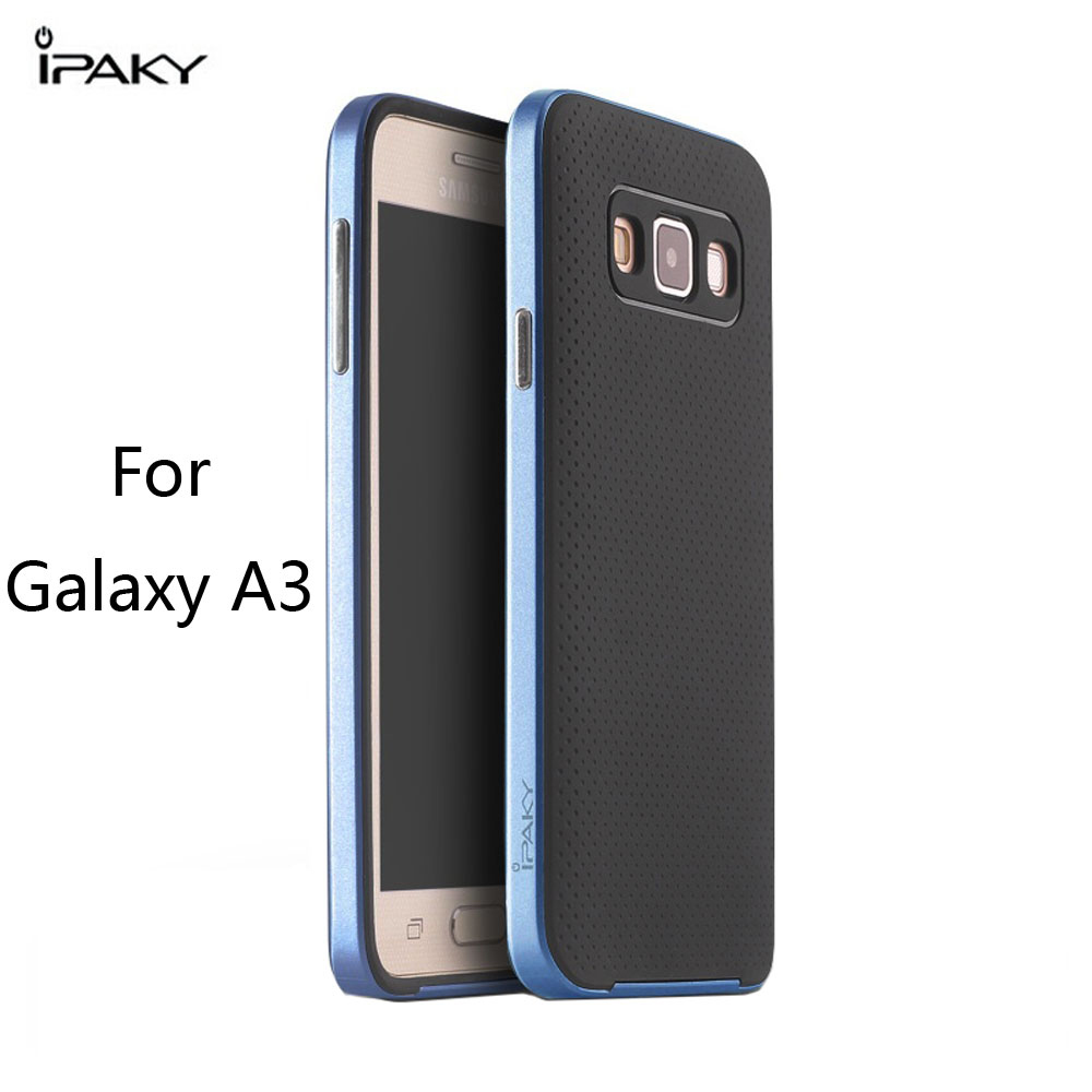 IPAKY Phone Case for Samsung Galaxy A3 A3000 frame and Silicone Back Cover Precision holes Does not affect the signal of phone(China (Mainland))