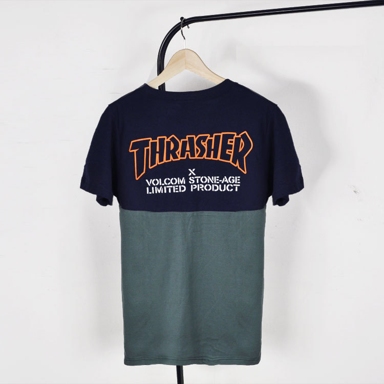 Thrasher Tshirt Brand Hip Hop T Shirt Skateboard Contrast Color T Shirt Men Printed Embo Short Sleeve Cotton Hip Hop CamisetasОдежда и ак�е��уары<br><br><br>Aliexpress