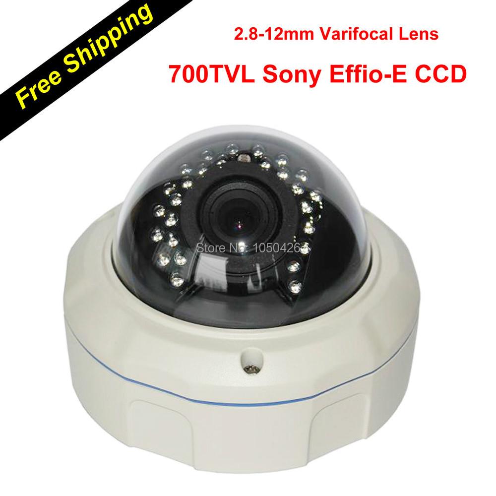 O.S.D Menu 700 TVL 700TVL IR Aluminum Varifocal Dome Analog CCTV Security Camera with F.12 HD CS Lens Varifocal 2.8-12mm<br><br>Aliexpress