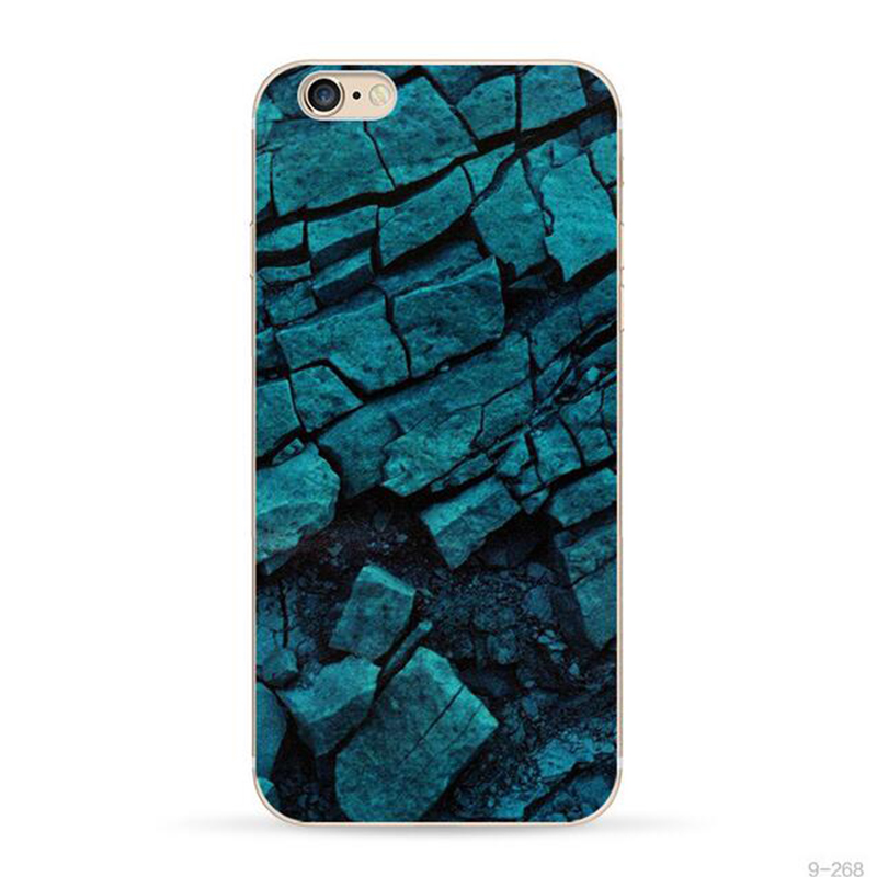 Cool Case For iPhone 4 4s Marble Glacier Brick Wall Stone Personality Printed Silicon Soft TPU Cover for iPhone 4 4s(China (Mainland))
