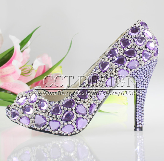 Purple Bling Wedding Shoes Wedding Shoes Purple