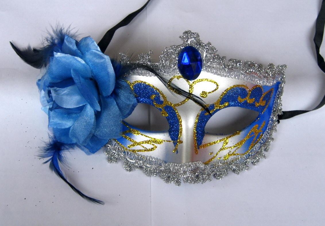 Christmas with flowers blue masquerade masks big rhinestone princess mask sexy ghost mask