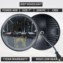 7 inch Inch Round LED Headlights High/Low Beam Wrangler CJ JK TJ 97-2016 Motorcycle Offroad Vehicles Reflector Design lamps - Brand Light store