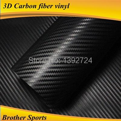 3D white carbon texture fiber for car vinyl wraps sticker with air bubble free size 1.52*30 m(China (Mainland))