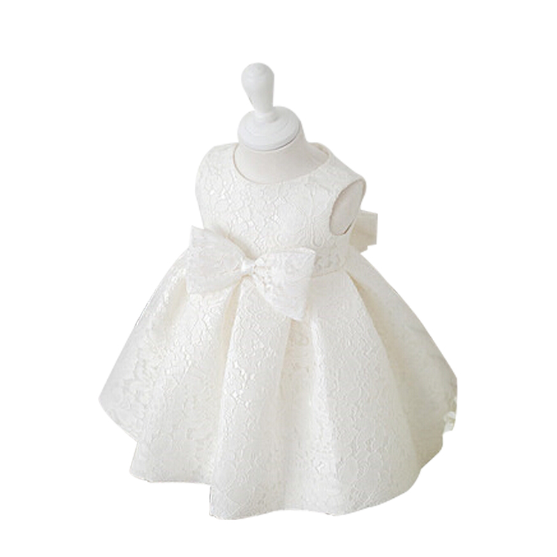 2016 Baby Girl Dresses for summer Children Dress Party Summer Princess Baby Girl Wedding Dress Birthday Big Bow free shipping(China (Mainland))