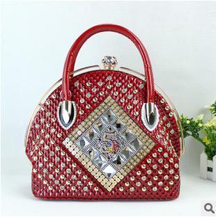 2015 fashion women handbag casual style messenger bags famous brand Tote Shopping Bags Women patent Leather Handbag - National charm store