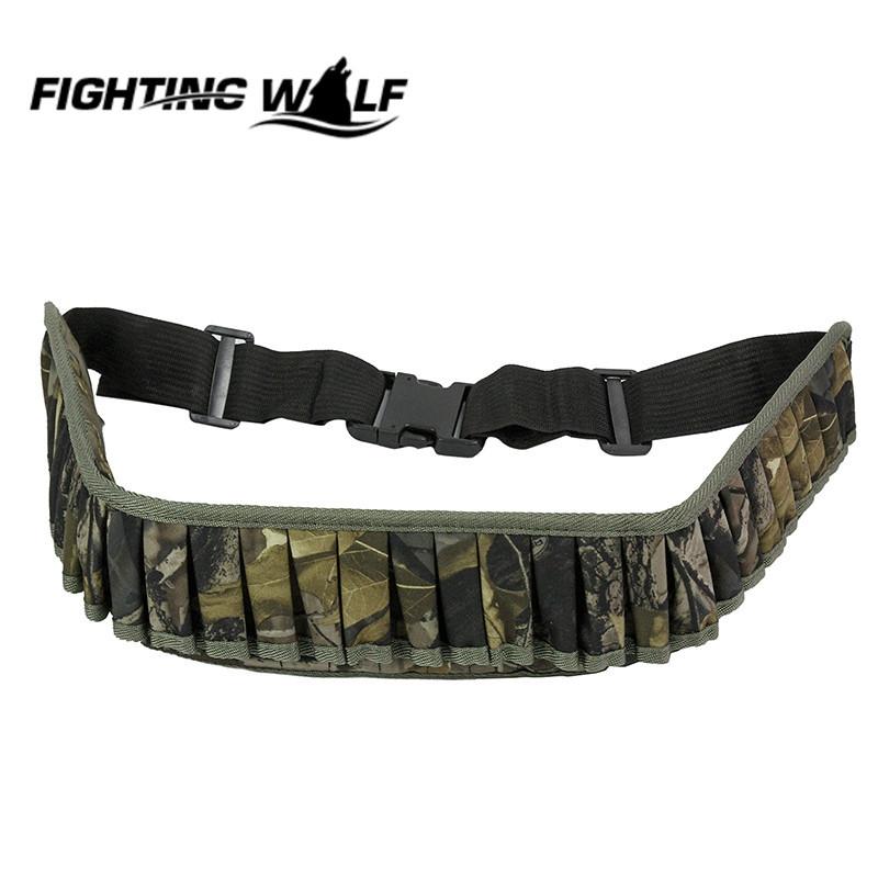 Airsoft Hunting Tactical Gun Shell Bandolier Belt Camouflage Sport Shooting Bullet Ammo Holder Military Shotgun Cartridge Belt(China (Mainland))