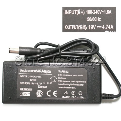 Free Shipping Power Adapter Charger AC 100-240V to DC 19V 4.74A Adapter for HP Laptop