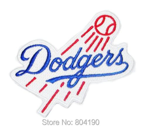 LOS ANGELES DODGERS Baseball Sports Ball Cap EMBROIDERED IRON ON SEW ON PATCH VEST BADGE EMBLEM Wholesale Free shipping(China (Mainland))