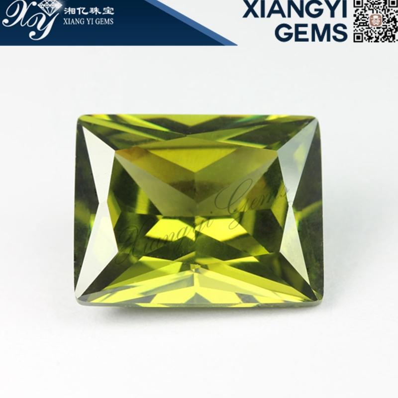 olive green cabochon crystal glass stones(China (Mainland))
