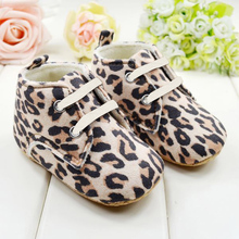 Cute Newborn Baby Shoes Girl Infant Toddler Leopard Crib Shoes First Walkers Fit 0-1 Y(China (Mainland))