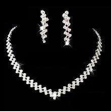 A111Free Shipping New Prom Wedding Bridal Crystal Rhinestone Necklace Earring Jewelry Set Hot(China (Mainland))