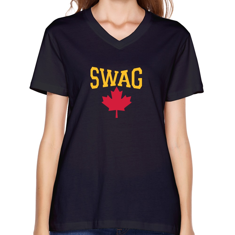 Custom fashion unique women 39 s t shirt fashion canadian for Personalized t shirts canada