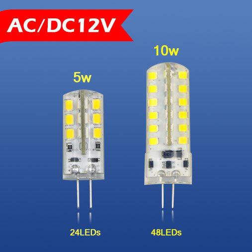 1Pcs G4 5W 10W High End Silicone LED Crystal Mini lamp 2835 SMD 24LEDs/DC12V 48LEDs/AC12V Chandelier light Replace Halogen Bulb(China (Mainland))