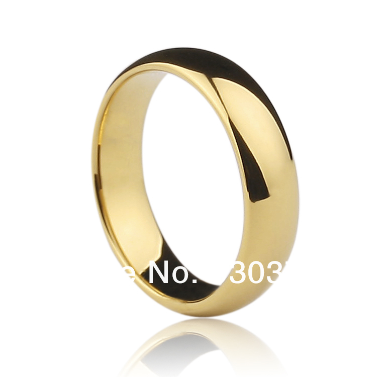 Free shipping Gold plated tungsten wedding bands ring ,couple ring, engagement ring, never worn(China (Mainland))