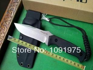 Italy FOX Camping Fixed Knives,D2 Blade G10 Handle Classic Full Tang Survival Straight Knife.(China (Mainland))