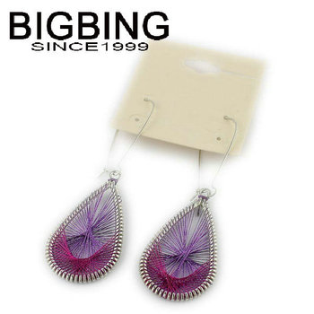 Bigbing ювелирные изделия мода фиолетовый груза падения мотаться бусины серьги высокое качество никель бесплатно S869