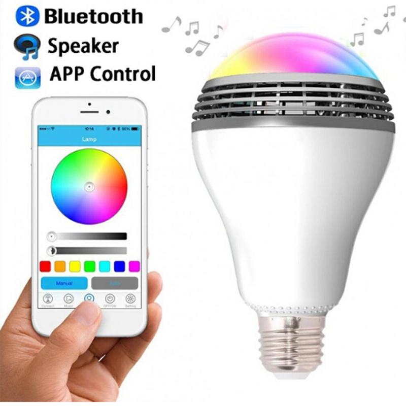 2016 Newest PLAYBULB Smart LED Bulb Light Wireless Bluetooth Speaker 110V - 240V E27 3W Lamp Audio for Android ISO iPhone iPad(China (Mainland))