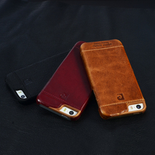 Genuine Leather 2015 Fashion Luxury Cell Phone Case For iPhone 5 5G 5S Back Cover Vintage Black Red Brown