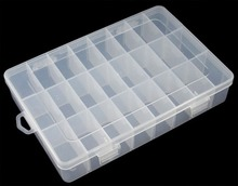 24 Compartment Organiser Box size approx 19.6cm long, 13.3cm wide, 3.7cm high - China Trimming CO., Ltd store