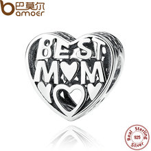 Buy BAMOER Mother Gift 925 Sterling Silver Jewelry BEST MOTHER CHARM Charms Bracelet Women Accessories Fine Jewelry PAS278 for $7.52 in AliExpress store