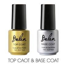 Belen Gel Nail Primer Factory Direct Easy Soak Off Top Coat Top it off + Base Coat Foundation Nail Gel for Nail Art 7ml(China (Mainland))