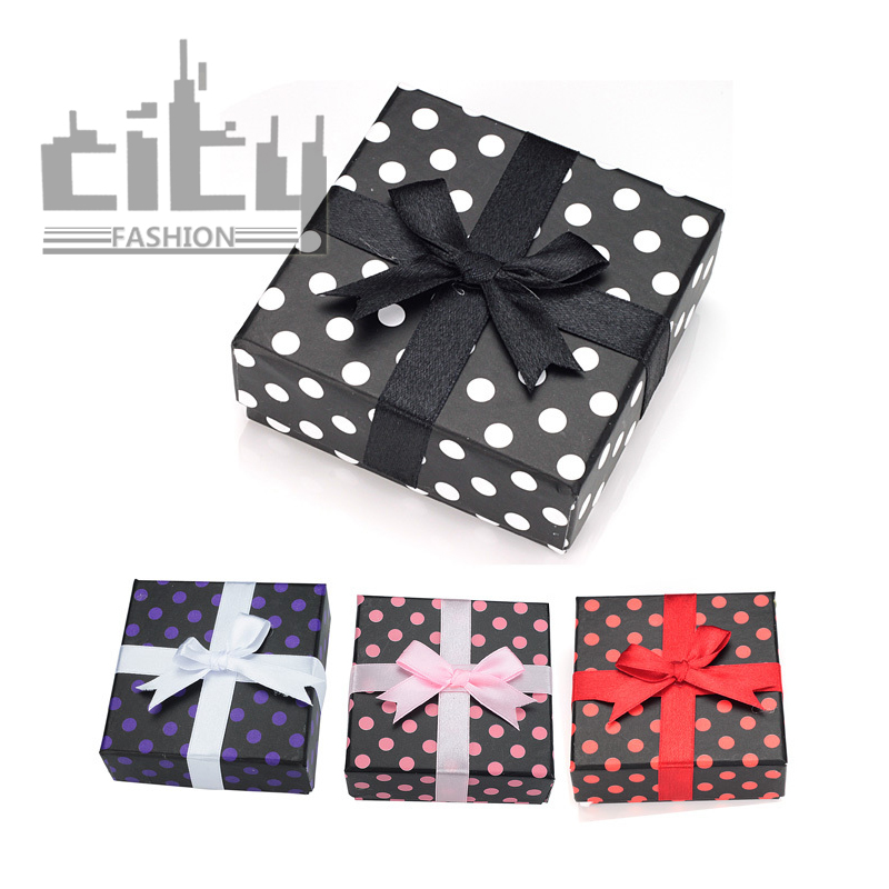 CITY Fashion Jewellery Gift Boxes Accessories Packaging Rings Necklaces Earrings Paper Box Open Lid Sponge Random Colors HZ131(China (Mainland))