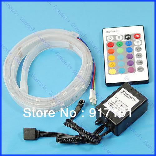 Free Shipping 1M 5050 SMD RGB 30 LED Flash Strip + Remote Controller(China (Mainland))