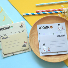 Novelty Moomin Self-adhesive Memo Pad Sticky Notes Sticker Label Escolar Papelaria School Office Supply