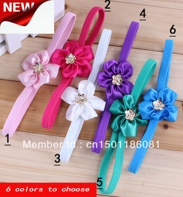 Free shipping Flower Baby Head band With silver Plated Kids Hair Ornament Headwrap Lace Children Hair Accessories New