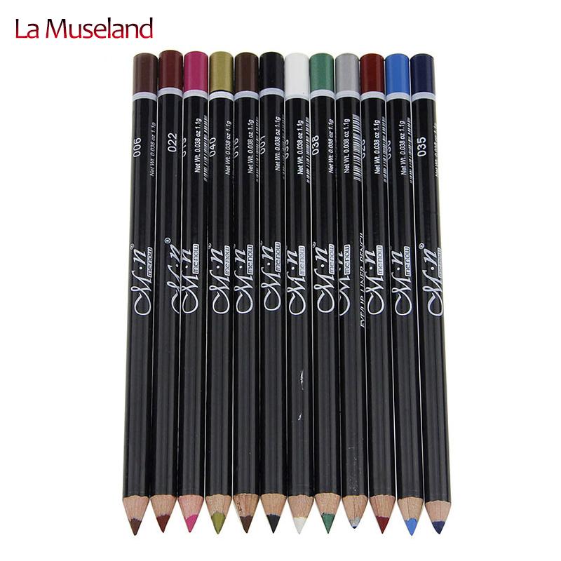 12 Colors Eye Make Eyeliner Pencil Waterproof Eyebrow Beauty Pen Liner Lip sticks Cosmetics Eyes Makeup #MN12 - LaMuseland Store store