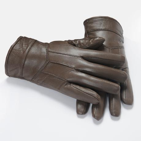 Men's leather glove genuine winter cheap glove for fashion men sheepskin five finger sport warm glove(China (Mainland))