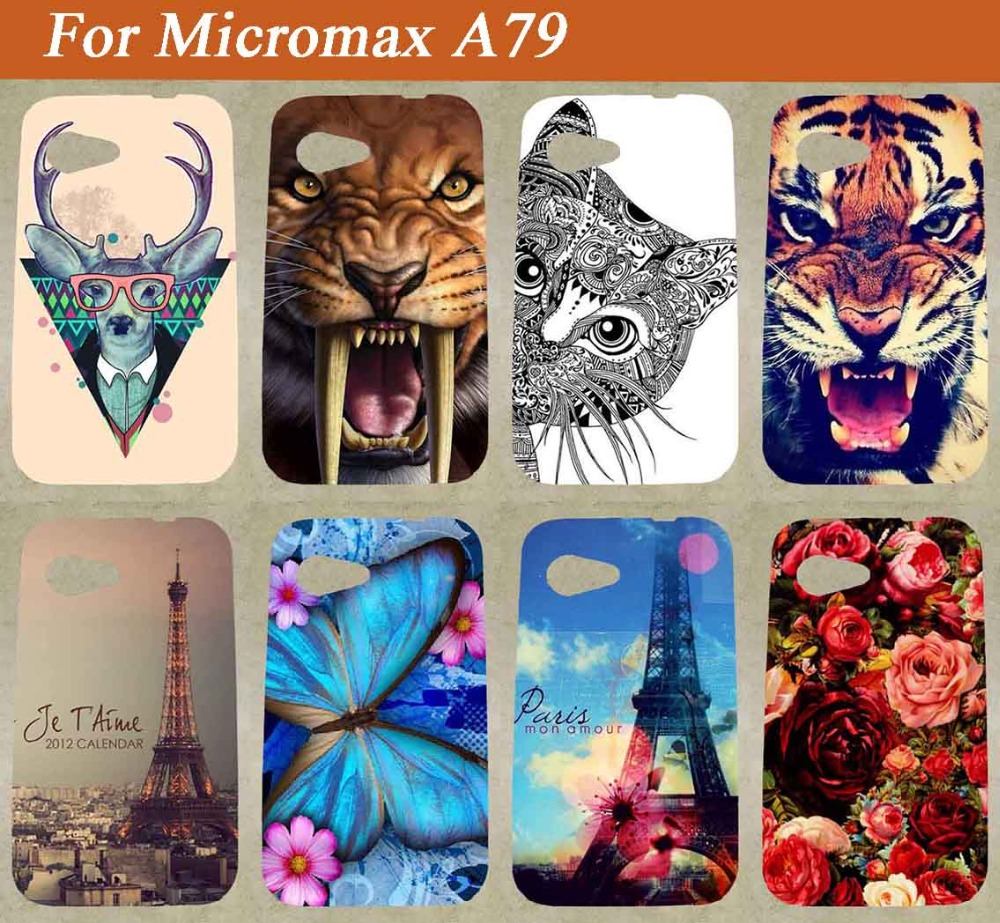 For Micromax A79 Case ,High Quality Painting Tiger Lion Owl Rose colored Soft Tpu Case For Micromax Bolt A79 soft tpu(China (Mainland))