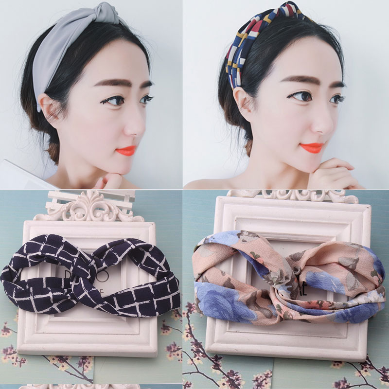 Hot Sale Fashion Ribbon Flower Headband Women Girls Hair Band Double Bands Twisted Turban Headband Accessories Girl Headwrap(China (Mainland))