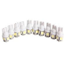 10Pcs/lot T10 5050 5SMD LED White Light Car Side Wedge Tail Light Lamp Bright(China (Mainland))