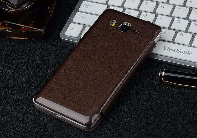 Fashion PU Leather Battery Housing Cover Flip Phone Case for Samsung Galaxy Grand Prime G530H G530FZ G530BT G531H G531F