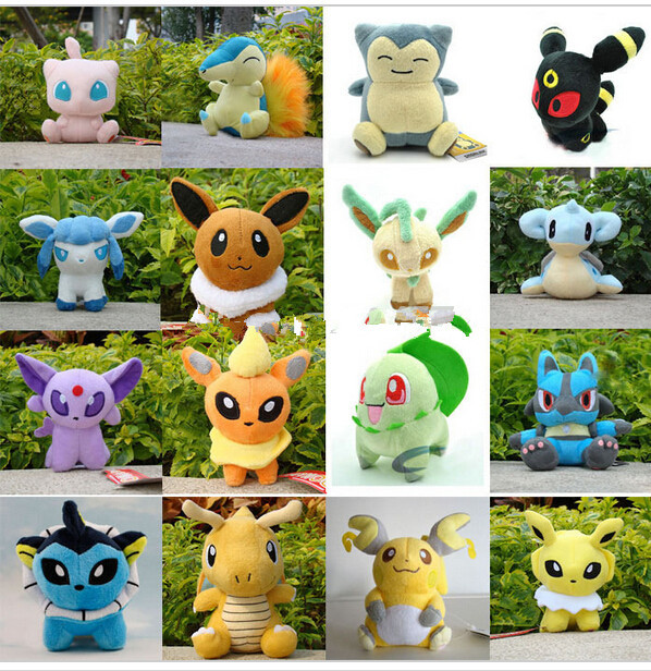 Free Shipping Anime 16 Different style Pokemon Plush Character Soft Toy Stuffed Animal Collectible Doll(China (Mainland))