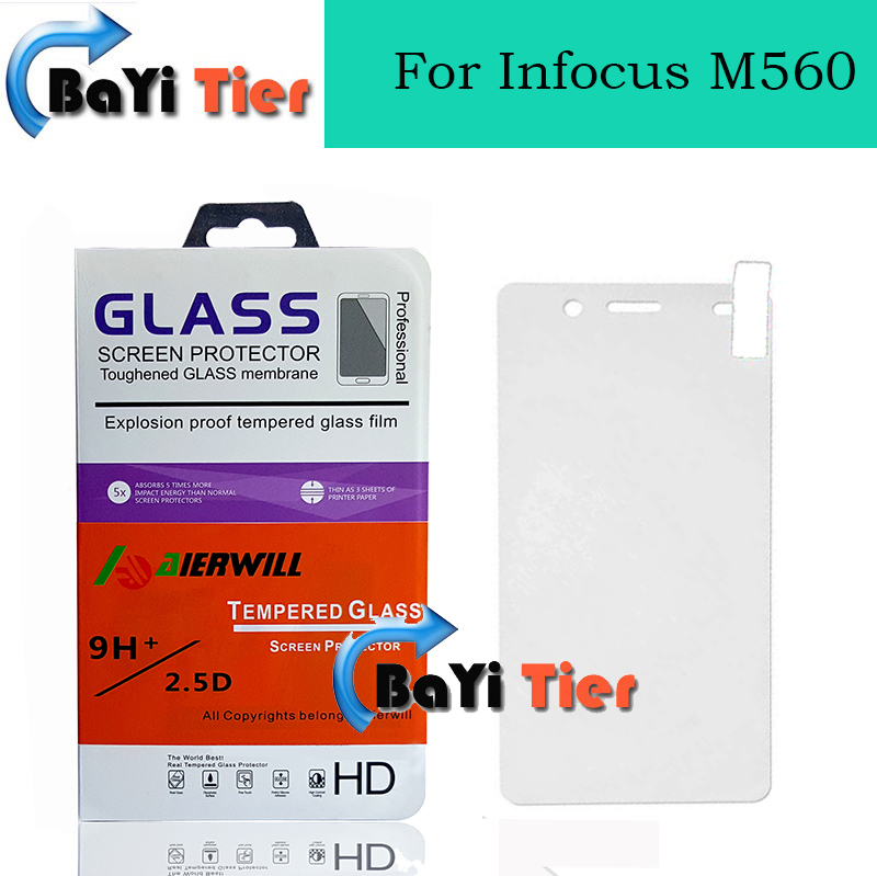 newest! For Infocus M560 Tempered Glass Film High Quality Ultra Thin Screen Protector Film for m560 Telephone + IN STOCK(China (Mainland))